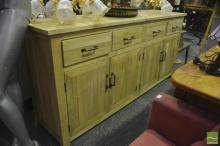 Chequered Pattern Four Drawer Sideboard