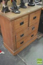 Timber Chest of 4 Drawers