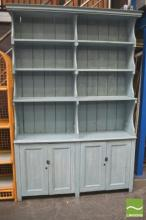 Blue Painted Kitchen Dresser
