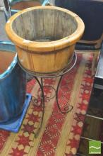 Timber Wine Bucket on Stand
