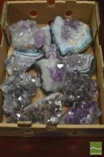 Box of Amethyst Crystal Chunks