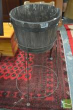 Barrel Form Ice Bucket on Stand