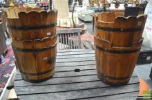 Set of 4 Rustic Buckets