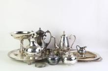 Silver Platters & Trays for Sale at Online Auction   Buy