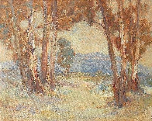 ALLAN ADOLF PETER HANSEN (1911 - 2000) Valley Gums oil on canvasboard 60.5 x 76.0 cm signed lower left: Allen Hansen.