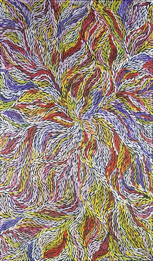 Jeannie Petyarre (c.1957 -) - Bush Medicine Leaves 152 x 90cm