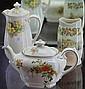 Three Royal Doulton Pieces Incl, 'Primrose' Coffee Pot, 'Rosalynd' Teapot & 'Old English' Vase