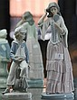 Nao Figure of Lady with Mirror & Lladro Figure of Sailor Boy