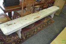 Painted Timber Bench Seat