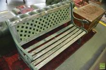 Wrought Iron End Two Seater Bench