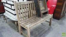 Timber Two Seater Bench