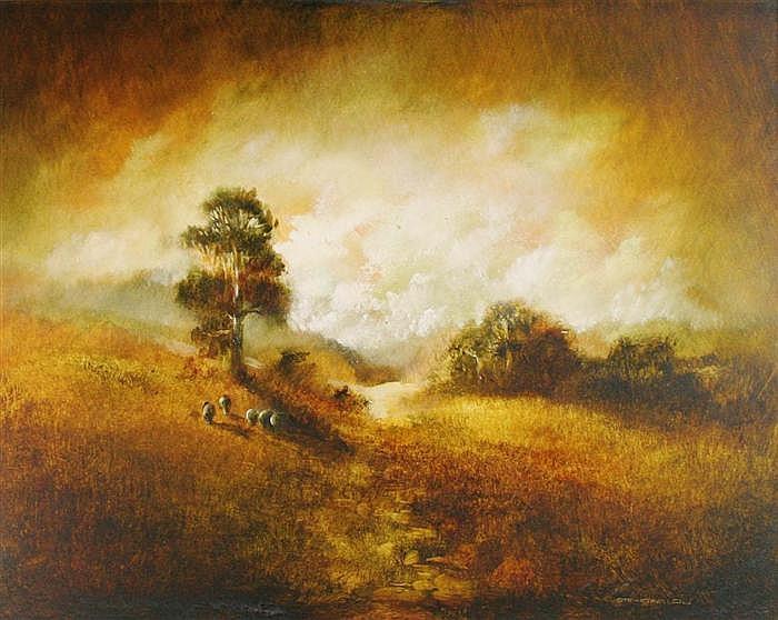 Carl Stringfellow - Morning Grazing 34.5 x 45cm