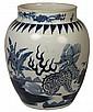 Large Ming Style Blue and White Porcelain Vase