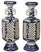 Pair of Meiji Hirado Vases