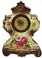 Continental Late 19th Century Ceramic Bedroom Clock