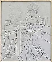 Anthony David Woods (1940 -) - Mirror Drawing, '73 63 x 50cm