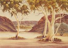 Claude Pannka (1928 - 1972) - Landscape 51 x 72 cm