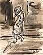 JOY HESTER (1920-1960) - Walking Figure watercolour on paper, Joy Hester, Click for value