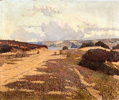 HOWARD ASHTON (1877-1964) - Tracks to the Beach 1906 oil on canvas