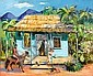 ELAINE HAXTON (1909-1999) - Village House, Narauki, New Guinea 1943 oil on board, Elaine Haxton, Click for value