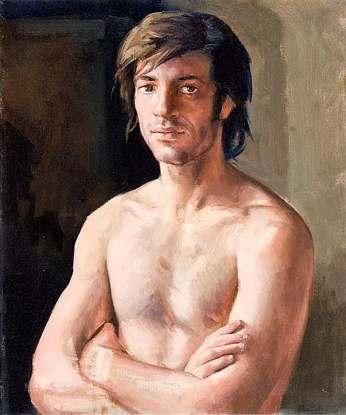 PETER CHURCHER (born 1964) - Rafa 1 oil on canvas