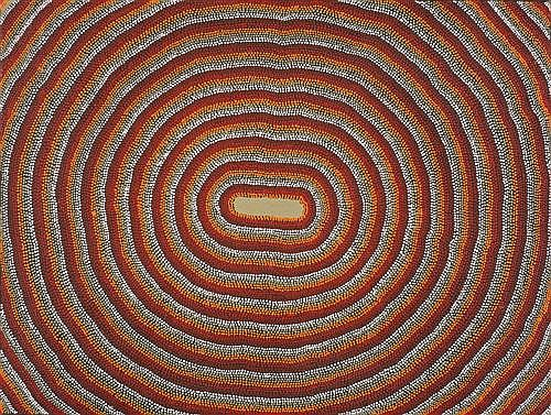 CHARLIE TJAPANGATI (born c1949) - The Rockhole 1996 synthetic polymer paint on canvas