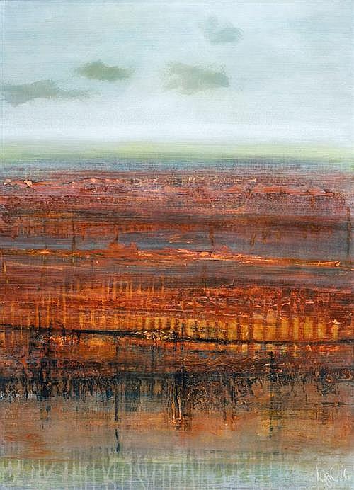 JOANNA LOGUE (born 1964) - Desertscape III 1996 synthetic polymer paint on card