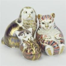 Royal Crown Derby Imari Animal Paperweights