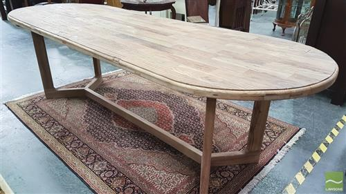 Recycled Elm Y Leg Dining Table