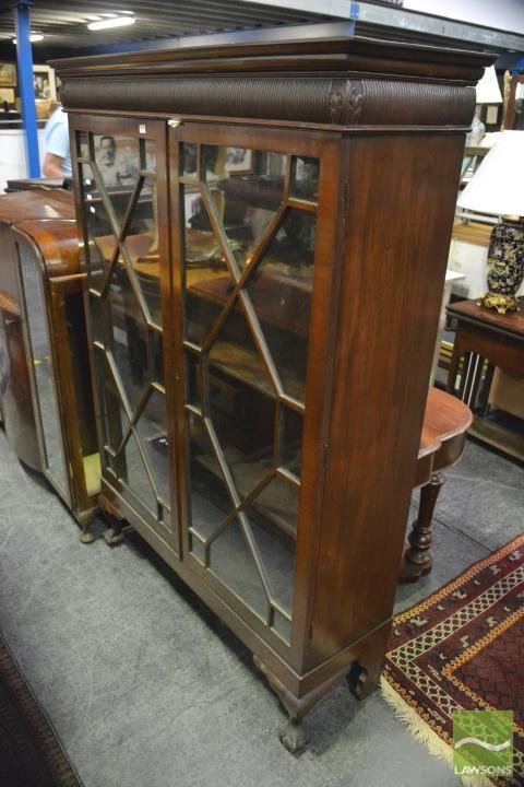 Edwardian Mahogany Display Cabinet With Astragal Doors