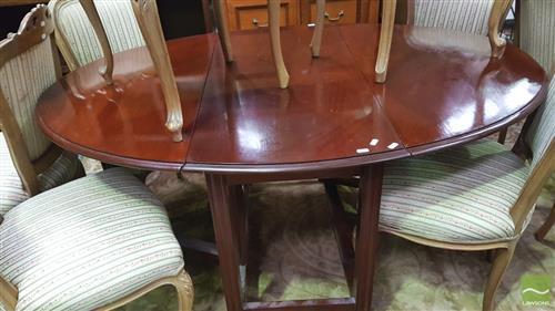 Mahogany Drop Side Dining Table