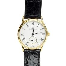 AN 18CT GOLD BAUME & MERCIER WRISTWATCH; ref. MV045076 with white dial, Roman numerals, subsidiary seconds, manual wind 17 jewell ET...