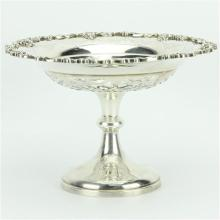 English Hallmarked Sterling Silver Edward VII Tazza