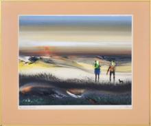 Tom Gleghorn (1925 - ) - Whyte Yarcowie Rabbiters, 1981 43.5 x 57.5cm