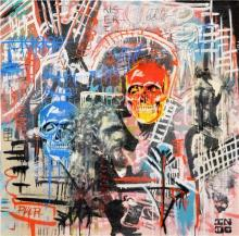 INDO (1982 - ) - They Were Manly 100 x 100cm
