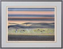 Tom Gleghorn (1925 - ) - Luminous Swamp - Bool Lagoon 48 x 67cm