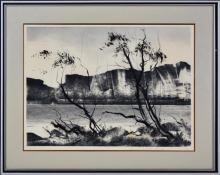 Tom Gleghorn (1925 - ) - Wilpena Sound 41 x 56.5cm