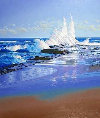 NEIL TAYLOR (1953 - ) - Break Point, 1989 175 x 147 cm