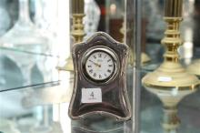 English Hallmarked Sterling Silver Clock