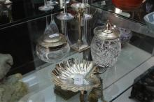 English Hallmarked Sterling Silver Candle Stick with Others incl Pin Dish (Weight - 120g)