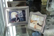 English Hallmarked Sterling Silver Photo Frames (2)