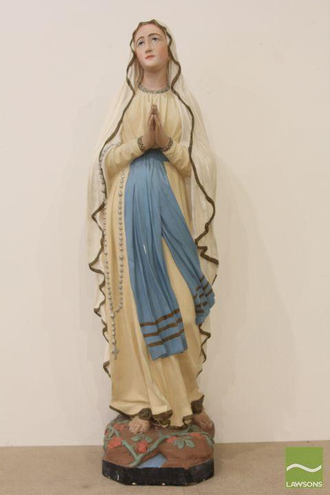 Ceramic hand painted statue of Mary