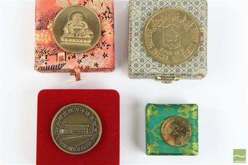 Commemorative Coin of The Diamond Jubilee of Academia of Sinica Together with other Chinese University Examples (4)