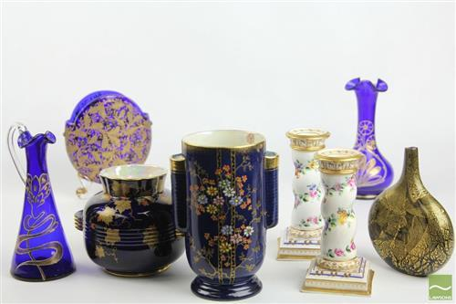 Crown Devon Ceramic Vases Together with other Ceramic and Glassware