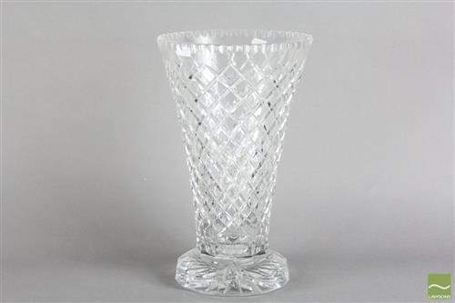Crystal Footed Vase Of Large Proportions