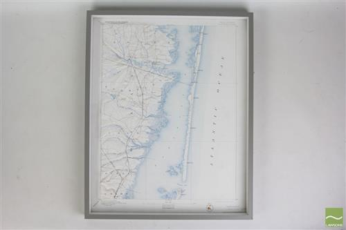 Elevated Framed Map of New Jersey