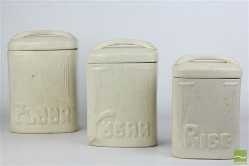 Fowler Ceramic Food Canisters