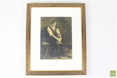 Framed 1924 Autographed Photo of Eleanor Towzey