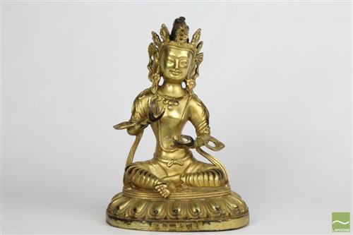 Gilt Bronze figure of Tara, Yongle mark