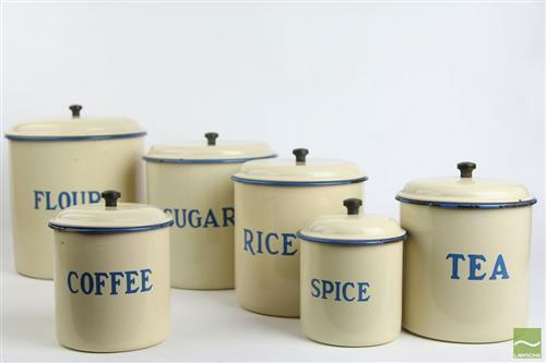 Graduated Enameled Cannisters